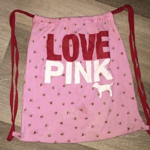 VS PINK Vintage Tote back pack drawstring Bag